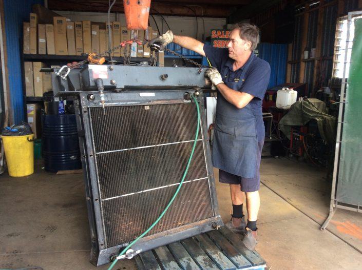 Servicing_Forestry_log_skidder_jack_mortimore_radiator